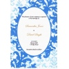 Baby Blue Oval Wedding Invitation